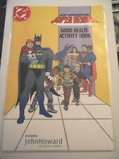 DC Super Heroes Good Health Activity Book John Howard Society Sudbury 2011 VG