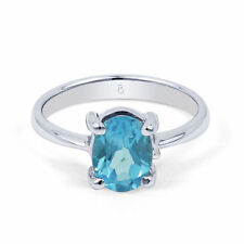 Topaz Engagement Solitaire Natural Fine Rings