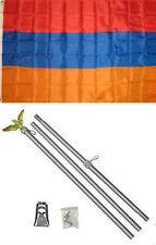 3x5 Armenia Flag Aluminum Pole Kit Set 3'x5'