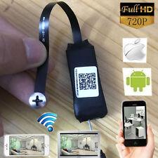 720P wireless mini SPY camera DIY WIFI IP P2P hidden Nanny pinhole DVR Recorder
