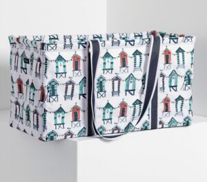 *NEW* Thirty One LARGE UTILITY TOTE bag in Seaside Suites Beach Theme