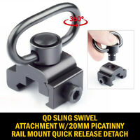 QD Sling Swivel Attachment w/ 20mm Picatinny Rail Mount, Quick Release Detach