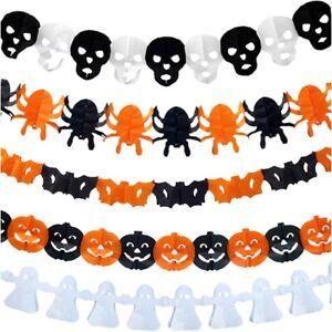 Halloween Pumpkin/Spider/Skull Paper Garland Bunting  Banner Home Party Decor*