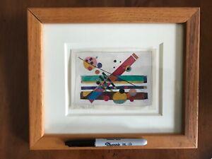 Geometric/Modernist 4x 6 Painting- Framed- 1950s- Rolph Scarlett