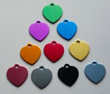 Medal Heart Engraved For Animals Dog Cat - 10 Colours