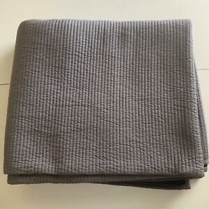 Restoration Hardware Reversible Mini Channel Quilt, Navy/Charcoal-Twin $179