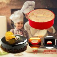 """4/6"""" Silicone Round Bread Mold Cake Pan Muffin Mould Baking AU Bakeware A+ O7B1"""