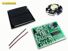 Tuningsatz Solarleuchte = LiFePO4 Solarregler, 6V 110mA Solarz., LED warmweiß