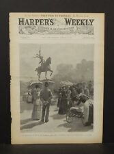 Harper's Weekly Cover Pg At the Statue of Joan of Arc Fairmount Park 1891 A9#09