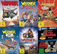 WERNER - BEINHART Part 1 2 3 4 5 + DAS KLEINE ASSHOLE +DER ALTE BAG 7 DVD new