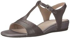 ECCO women TOUCH 25 S SANDALS Snakeprint Ankle Strap Leather GREY EU 40,US 9-9.5