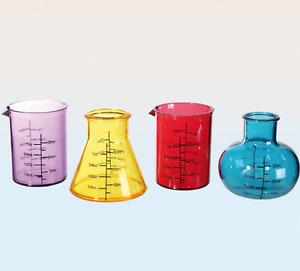 Set Mit 4 Plastik Neuheit Chemie Lab Becher Topf Shooter Gläser Party Geschenk