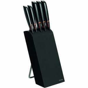 Fiskars Edge Messerblock mit 5 Messer Messerset Küchenmesser Kochmesser