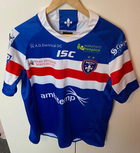 ISC Wakefield Trinity Home 2019 Rugby League Blue Mens Jersey Small