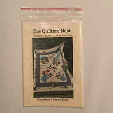 """THE QUILTERS NEST """"MARY-ANNE'S GARDEN QUILT"""" 53 INCHES BY 45 INCHES"""