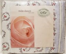 New! Treasures by Rachel Ashwell Twin Duvet Lucille 100% Cotton Shabby Chic