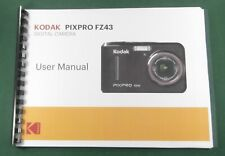 Kodak PixPro FZ43 Instruction Manual: Full Color with Protective Covers!