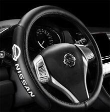 """15"""" Car Steering Wheel Cover Genuine Leather For Nissan"""