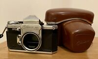 Edixa Mat Reflex Model B-L 35mm Vintage SLR Camera & Case No Lens
