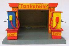 vintage wood German MINOL TANKSTELLE Gas Station with 2 pumps