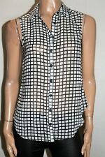 TARGET Brand Black White Collar Button Front Shirt Top Size 8 BNWT #RF52