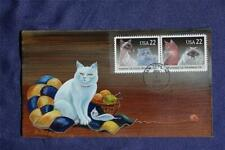 Cats 22c Stamps Fdc Olde-Well Hp Sc#2372-73 Siamese, Abyssinian, Himalayan