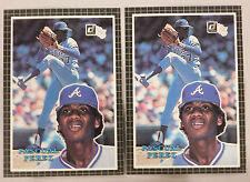 "PASCUAL PEREZ BRAVES 1985 DONRUSS 3-1/2"" x 5"" Baseball Card - LOT OF 2"