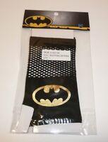 Batman Fishnet Costume Gloves NEW Licensed DC Comics Black Gold Logo Cosplay