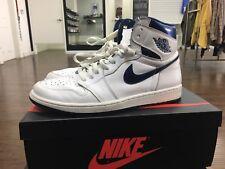 Air Jordan 1 I Retro Metallic Blue 555088 106 Size 12