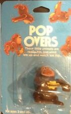 TOMY Vintage Wind Up GORILLA Ape Pop Over White Knob NOS 1980 on original card
