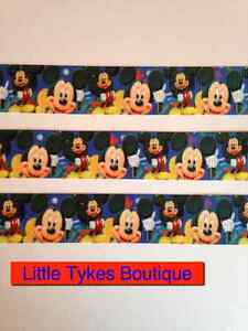 """Mickey Mouse Ribbon 1"""" Wide... 1m is only £1.49...FREE P&P"""