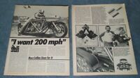 "1981 Russ Collins' Custom Honda Drag Motorcycle Vintage Article ""I Want 200 MPH"""