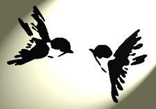 Shabby Chic Stencil 2 RONDINE su foglio RUSTICO a4 297x210mm (des2) gli uccellini VINTAGE