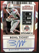 Binjimen Victor Rookie Autograph 2020 Contenders Bowl Ticket Auto #/99 GIANTS