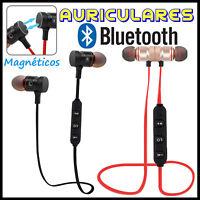 Auriculares Bluetooth 4.1 Inalambricos Magnéticos Manos Libres Cascos Deportivos