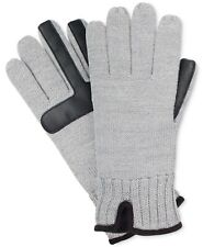 $125 Isotoner Signature Men's Gray Smartouch Knit Fleece Winter Gloves One Size
