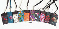 NWT Coach Id Lanyard Badge Holder Card Pass Case Rabbit Floral Blue Red Pink BLK