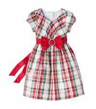 BONNIE JEAN® Little Girls' 5 Plaid Taffeta Bow Dress NWT $62