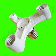 CE CERTIFIED E40 to 3 E27 Convertor Adaptor Splitter Photography Studio Lamp UK.