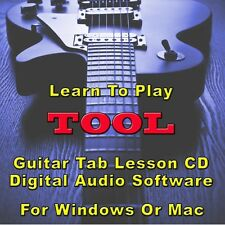 TOOL Guitar Tab Lesson CD Software - 61 Songs