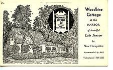 Woodbine Cottage Restaurant Art-Lake Sunapee-New Hampshire-Vintage Adv Postcard