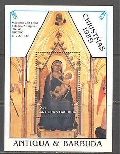 ANTIGUA 1989,ART: GIOTTO PAINTING, BOLOGNA  ALTARPIECE, CHRISTMAS, Sc 1273, MNH