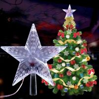 Christmas Tree Topper Lighted Star Colorful Flashing LED Projector Lights Decor