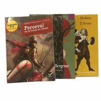 Lot de 3 livres de poche, Perceval, Cyrano de Bergerac, L'avare
