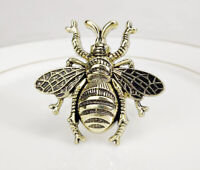 Fennco Styles Modern Bumble Bee Metal Napkin Rings, Set of 4, 5 Colors