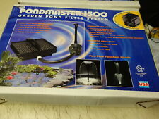 PONDMASTER 1500 Garden POND FILTER SYSTEM & FOUNTAIN
