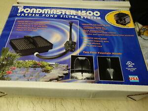 PONDMASTER 1500 Garden POND FILTER SYSTEM & FOUNTAIN