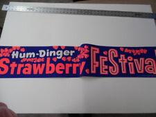 1961 Hum-Dinger DayGlo Strawberry Festival Paper Sign Vintage Atomic Age DriveIn