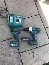 Makita 18v Lxt Impact Driver/3 Speed Hammer drill/charger And Batterys