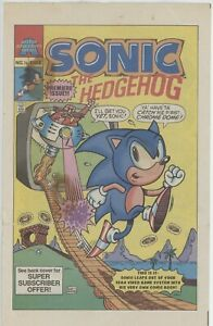 Archie Comics Sonic The Hedgehog 1/4 1st Sonic VG- to VG+1992 comic book